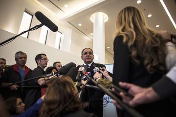 Rotstein, director of the Sheba Medical Center, speaks to the media at the hospital near Tel Aviv
