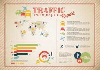Travel and Traffic Infographic