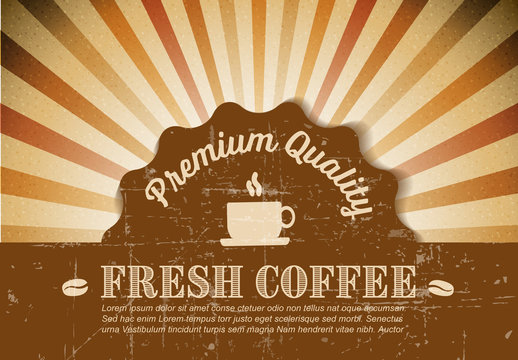 Coffee Shop Sign Layout