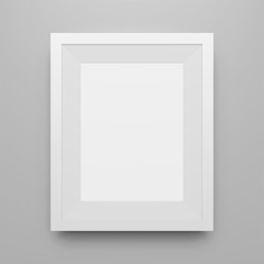 Blank white Poster Frame vector Mockup