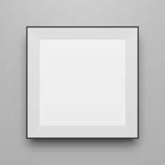 Square black vector Frame Mockup for Portfolio