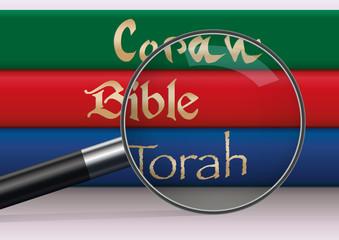 religion - Bible - Torah - Coran - livre sacré - dieu - prière - religieux