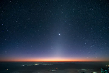 Zodiacal Light at early morning