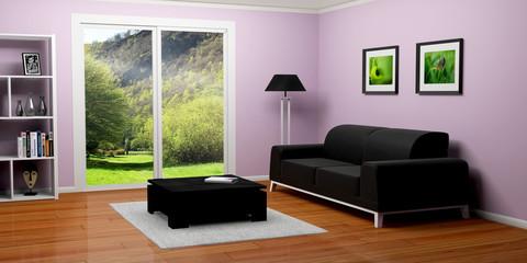 appartement maison salon 3D