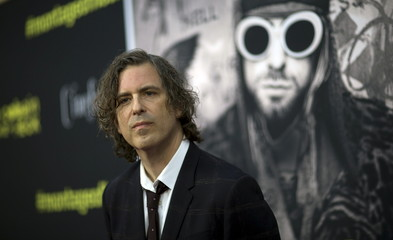 """Director Morgen poses at the premiere of """"Kurt Cobain: Montage of Heck"""" at the Egyptian theatre in Hollywood"""