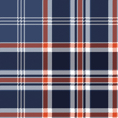 Blue check fabric texture pixel seamless pattern