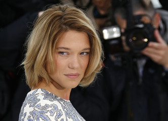 Cast member Lea Seydoux poses during a photocall for the film 'Grand Central' at the 66th Cannes Film Festival in Cannes