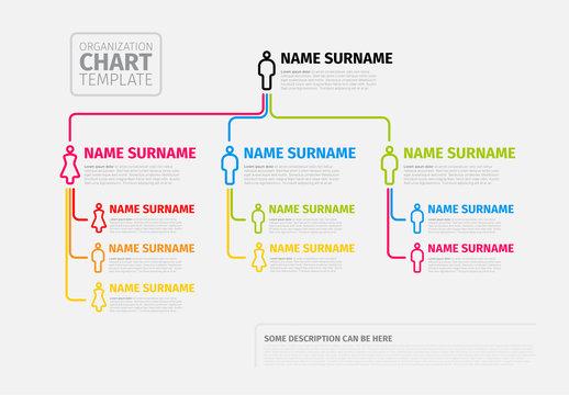 Colorful Organizational Chart Layout