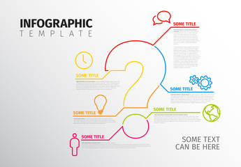 Question Mark Infographic Layout
