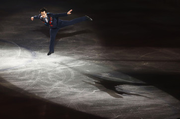 Patrick Chan of Canada performs during gala exhibition at ISU Grand Prix of Figure Skating Final in Fukuoka