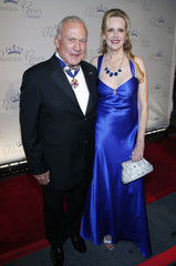 Former astronaut Aldrin and Eaton arrive for the Princess Grace Awards in New York