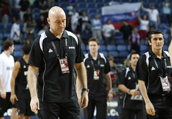 New Zealand's head coach Nenad Vucinic reacts after losing to Russia after their FIBA Basketball World Championship game in Istanbul