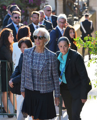 Managing Director of the IMF Christine Lagarde arrives for a concert of La Scala Philharmonic Orchestra during the Heads of State and of Government G7 summit in Sicily