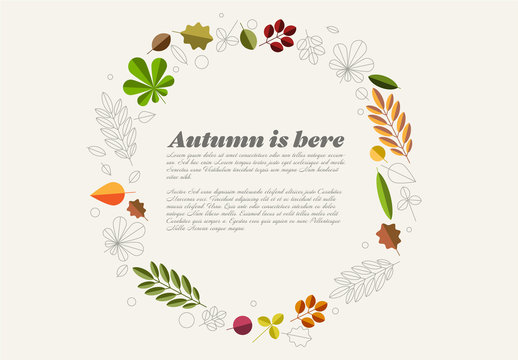 Autumn Leaves Card Layout