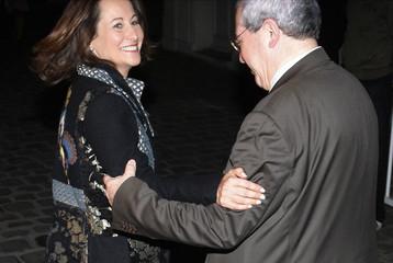Segolene Royal, the re-elected Socialist party Poitou-Charente region council president, arrives for a dinner in Paris