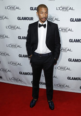 Rapper Pharrell Williams  arrives for the Glamour Magazine Women of the Year Awards in New York
