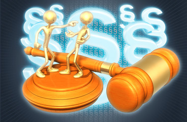 Accused Law Concept With The Original 3D Characters Illustration