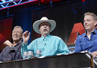 """Wiley, Bell and Cassel take part in a panel discussion of six-part docudrama series """"Gunslingers"""" during Discovery Communications portion of the 2014 Television Critics Association Cable Summer Press Tour in Beverly Hills"""