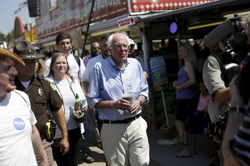 Sanders attends the Iowa State Fair in Des Moines