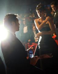 Cruz talks with his husband Bardem before the Spanish Film Academy's Goya Awards ceremony in Madrid