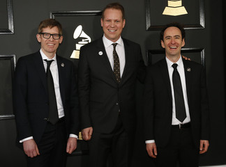 Recess Monkey arrives at the 59th Annual Grammy Awards in Los Angeles