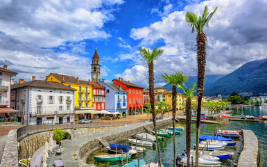 Wall Mural - Ascona old town on Lago Maggiore, Switzerland