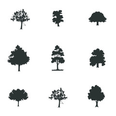 tree silhouette set