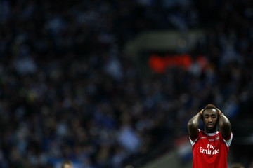 Arsenal's Johan Djourou reacts after loosing English League Cup final soccer match against Birmingham City at Wembley Stadium in London