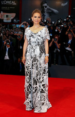 """Actress Natalie Portman attends the red carpet for the movie """"Jackie"""" at the 73rd Venice Film Festival in Venice"""