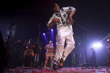 Musician Femi Kuti, son of Nigeria's music legend Fela Kuti, performs at a night show marking the end of a week-long celebration honouring Fela, in Lagos