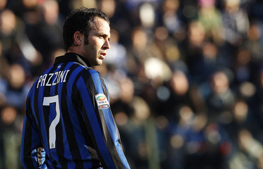 Inter Milan's Pazzini reacts during their Serie A soccer match against Siena at the Artemio Franchi stadium in Siena