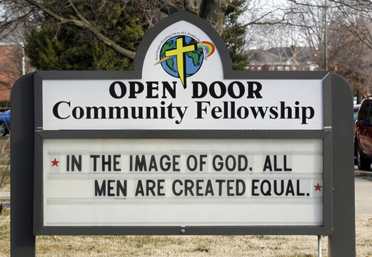 A outside view of the Open Door Community Fellowship Church in Louisville
