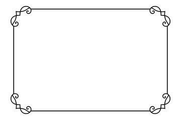 Fototapeta Ornamental decorative page frame. Vector Line style border template obraz