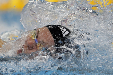 Steffen of Germany competes in the women's 100m freestyle semifinal during the 2012 European Swimming Championships in Debrecen