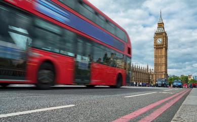 Foto op Aluminium Londen rode bus red bus in front of Big Ben