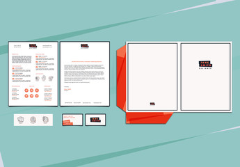 White and Red Personal Branding Set