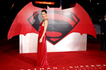 """Gal Gadot arrives for the European Premiere of """"Batman V Superman: Dawn of Justice"""" in Leicester Square in London"""