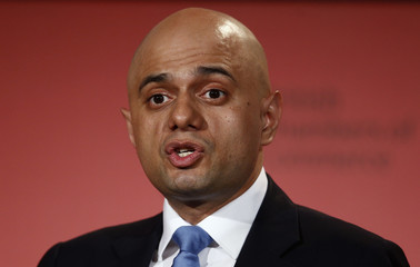 Britain's Business Secretary Sajid Javid speaks at the British Chambers of Commerce annual conference in London
