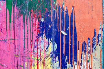 Paint drips and splashes with  grunge texture