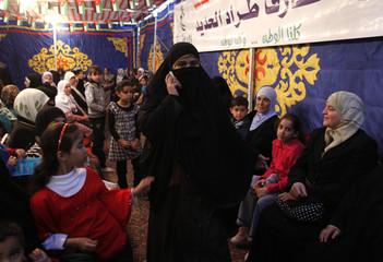 Jordanian Bedouin Noof Al-Hadeed,a candidate in Jordan's