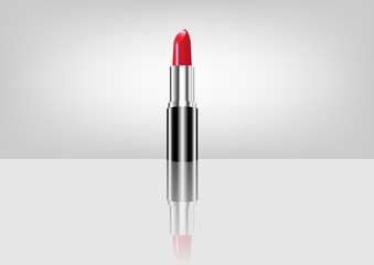 red lipstick, Makeup beauty , vector isolated
