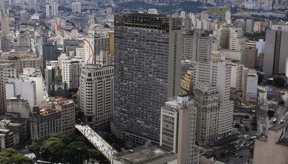 General view shows of the city of Sao Paulo