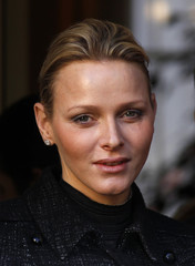 Princess Charlene attends a ceremony at the Monegasque Red Cross in Monte Carlo