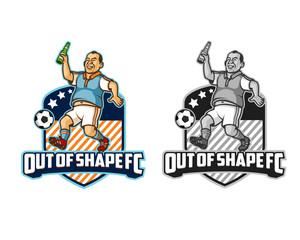 Out of Shape FC Sport Cartoon Logo
