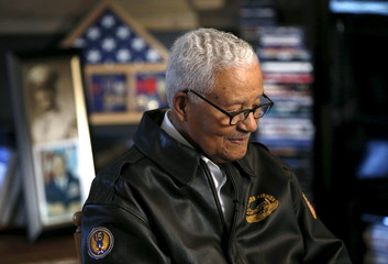 Tuskegee airman and U.S. Air Force fighter pilot Colonel Charles McGee reminisces about his career in Bethesda Maryland
