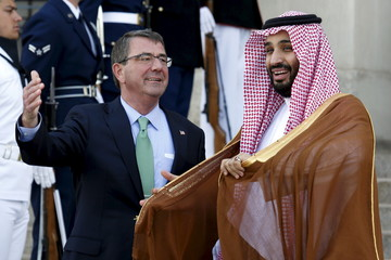 Defense Secretary Ash Carter welcomes Mohammed bin Salman, deputy crown prince and defense minister of Saudi Arabia