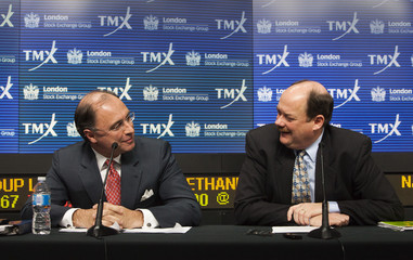 LSE CEO Rolet and TMX CEO Kloet speak in Toronto