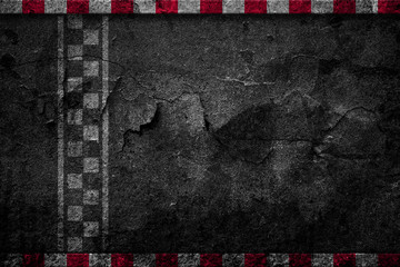 Finish line racing dilapidated background top view Wall mural
