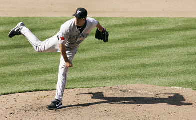 Toronto Blue Jays relief pitcher Kevin Gregg pitches against the Baltimore Orioles in Baltimore