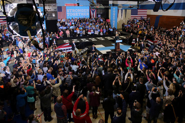U.S. Democratic presidential nominee Hillary Clinton speaks at a campaign event in Cleveland, Ohio U.S.